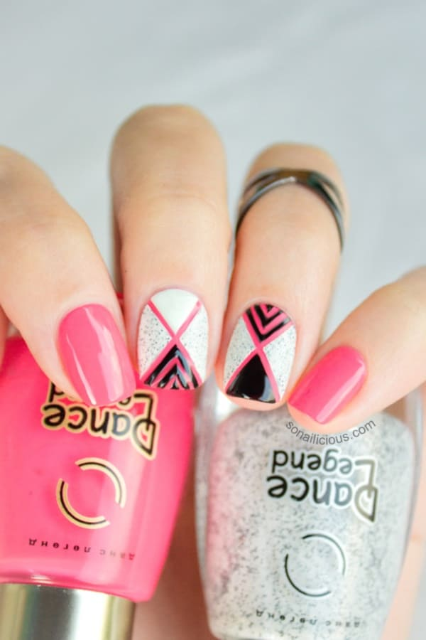 pink-and-white-nails-designs