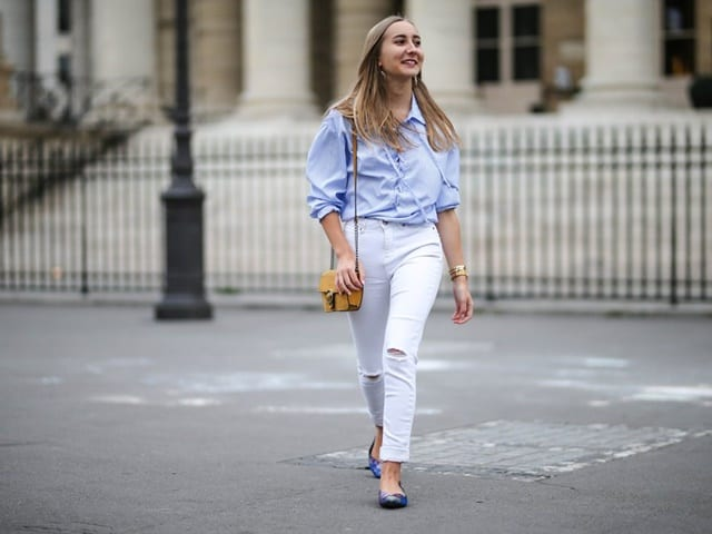 Ways to style your white jeans at work