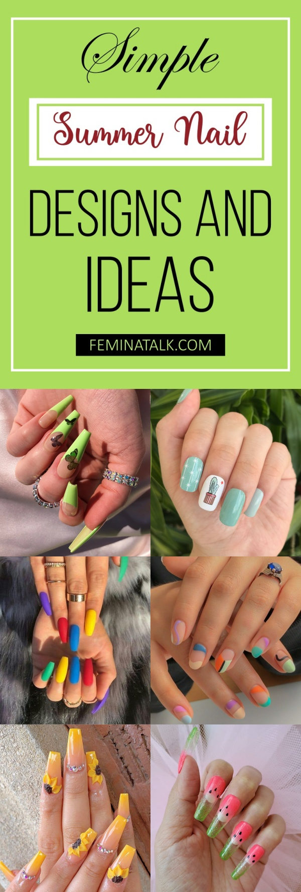 20+ Simple Summer Nail Designs and Ideas For 20 – Femina Talk