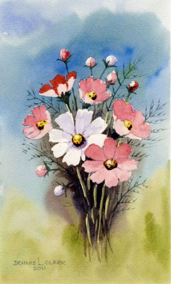 40 Very Easy Watercolor Painting Ideas For Beginners Feminatalk
