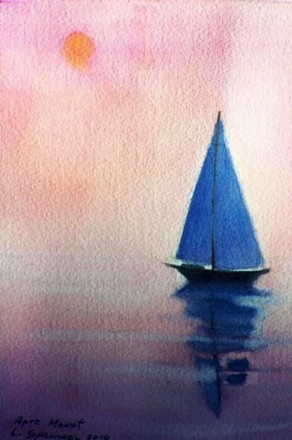 Very Easy Watercolor Painting Ideas for beginners
