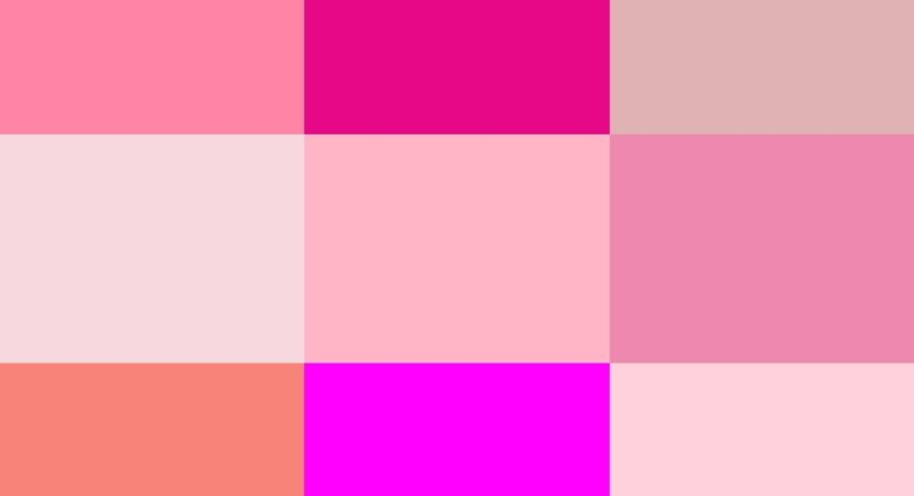 Different Shades of Pink Color with Names