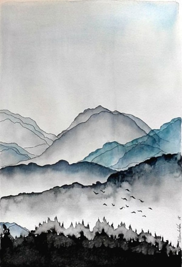 40 easy watercolor landscape painting ideas for beginners feminatalk feminatalk