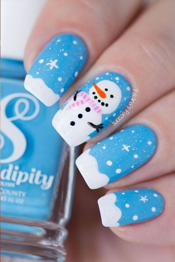 So Pretty Christmas Nail Art Designs and Colors