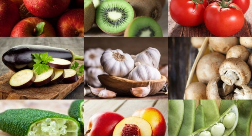 List of Fruits and Vegetables Names in Alphabetical Order