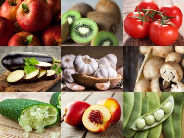 List of 400 Fruits and Vegetables Names in Alphabetical Order