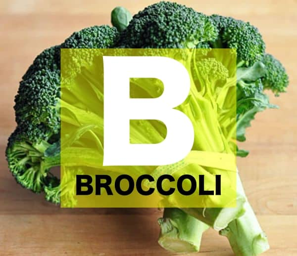 List of Vegetables Names starts with B