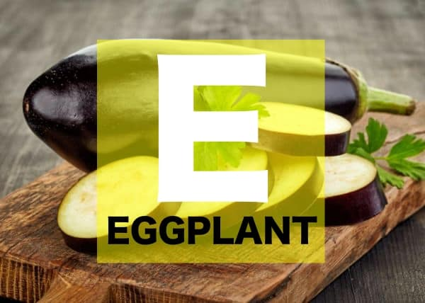 List of Vegetables Names starts with E