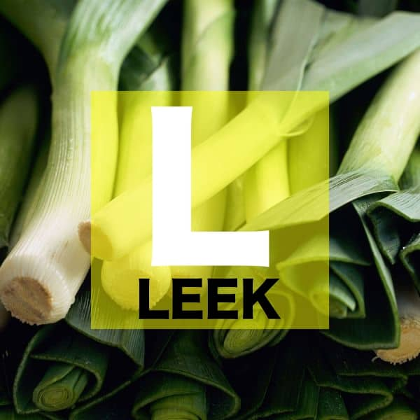 List of Vegetables Names starts with L