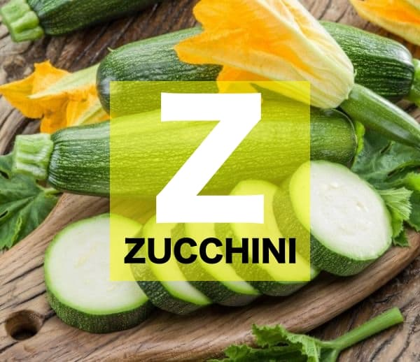 List of Vegetables Names starts with Z