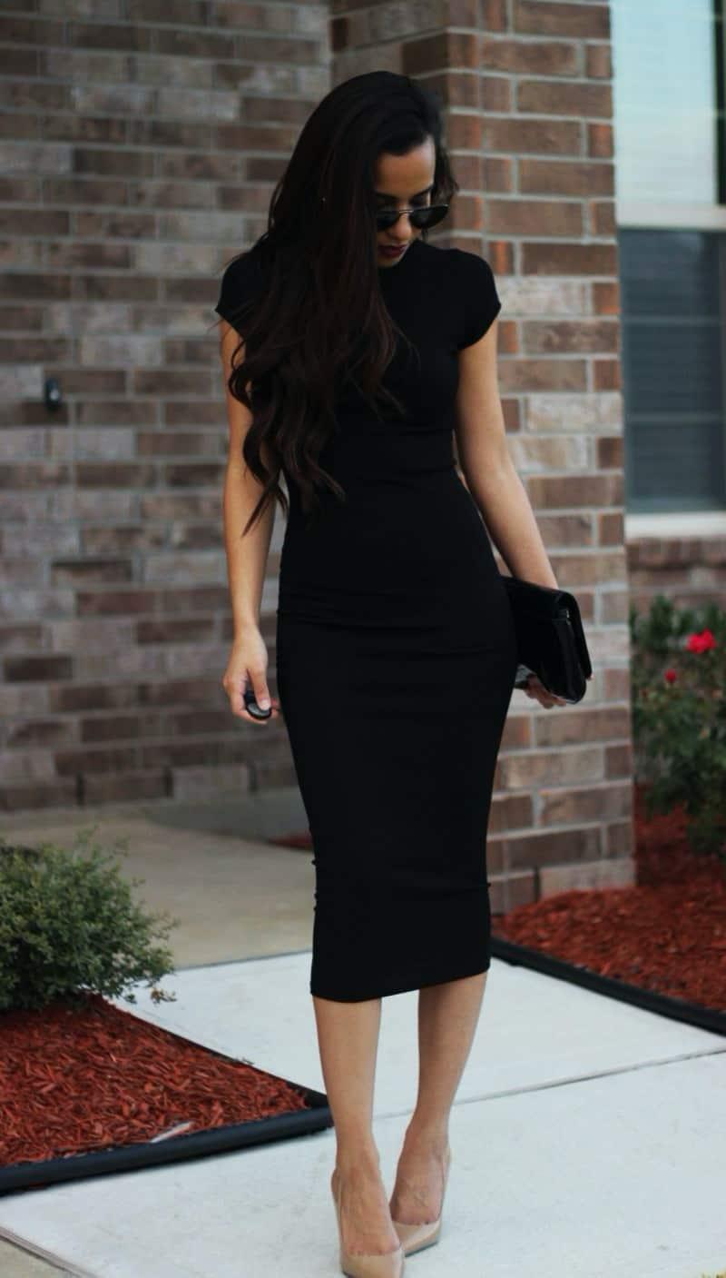 black pencil dress for work