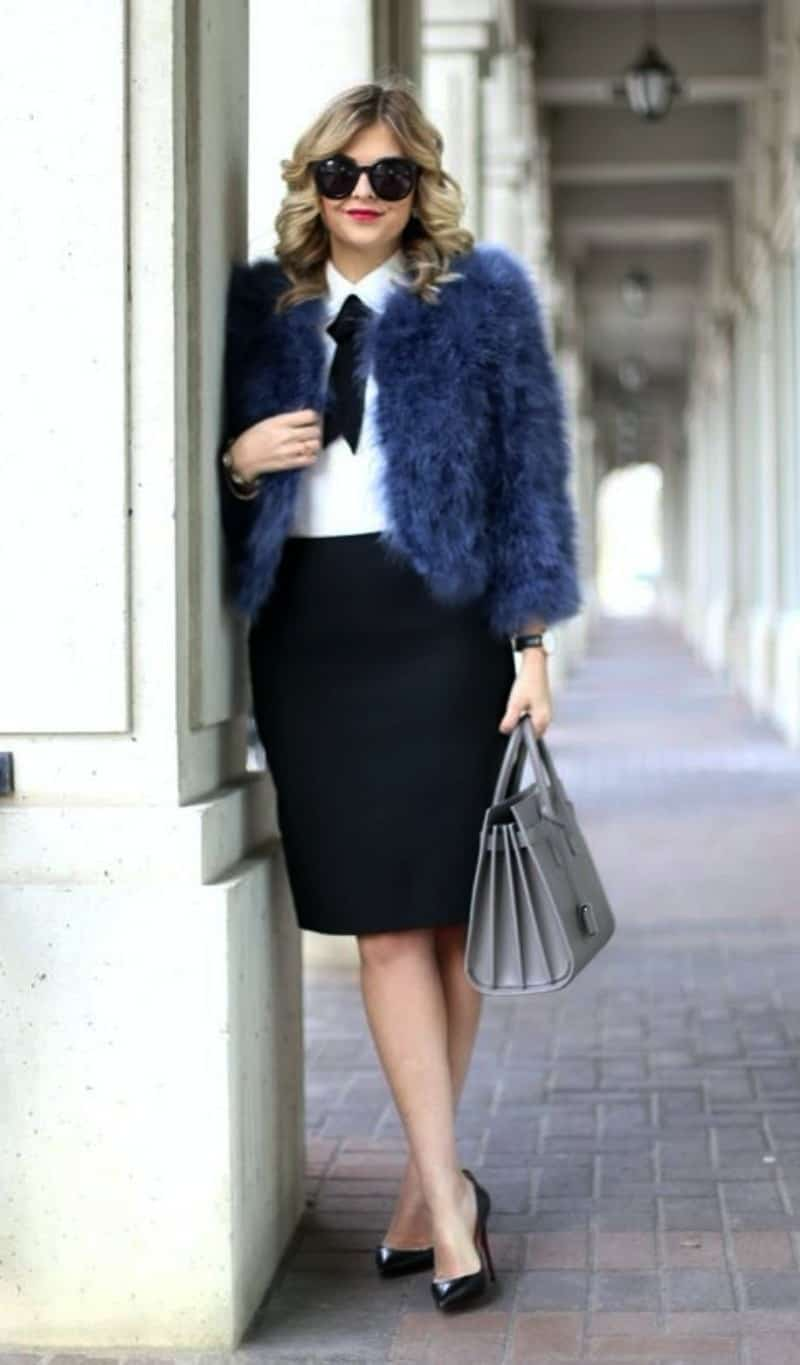fur coat outfits for work