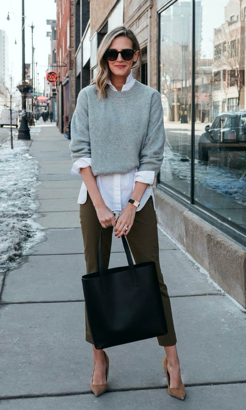 Sweater work outfits for women