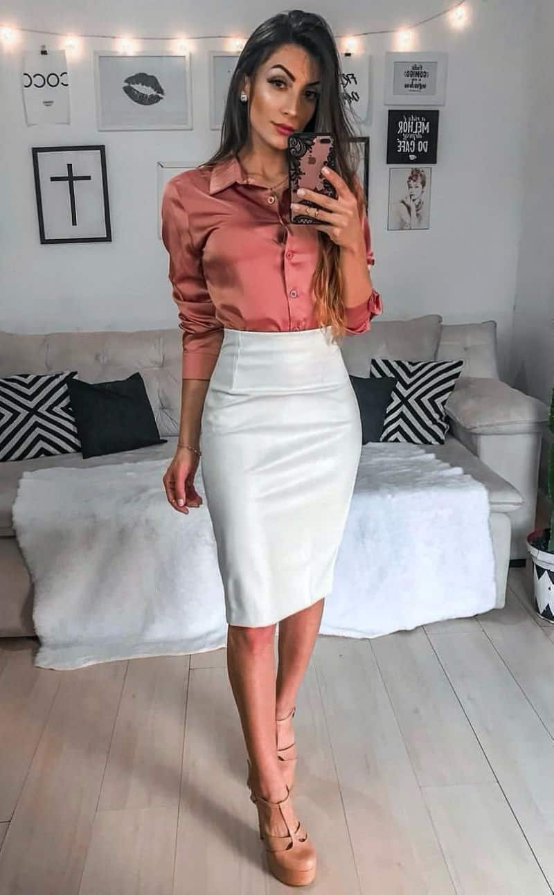 Button down shirt outfits for work