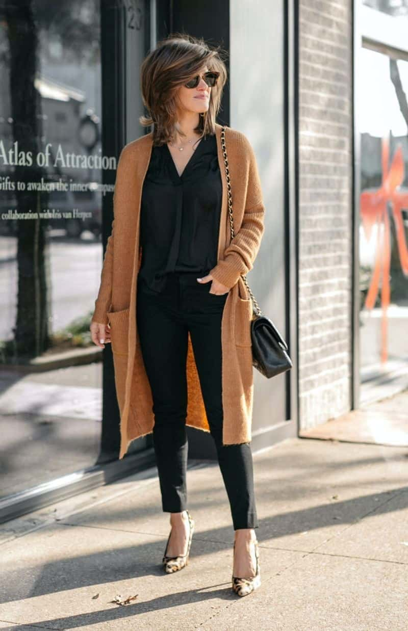 Cardigan outfits for work for women