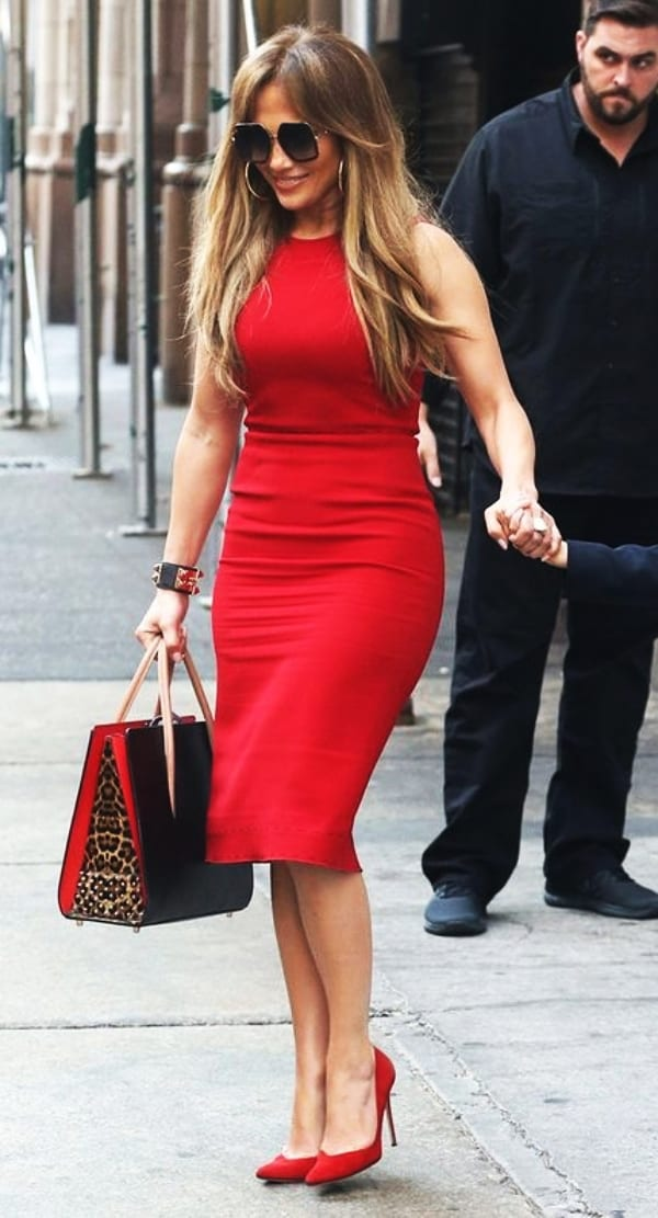 Red work outfits
