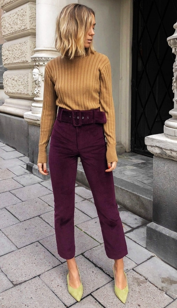 Burgundy Trouser