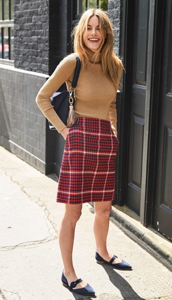 Plaid Skirt for Work
