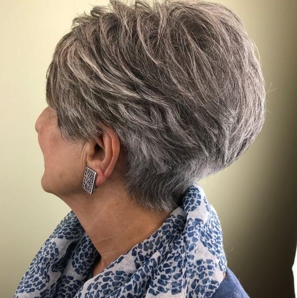 Short haircut for older ladies